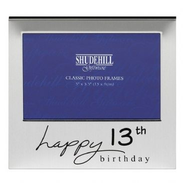Happy 13th Birthday Silver Plated Photo Frame, Boxed